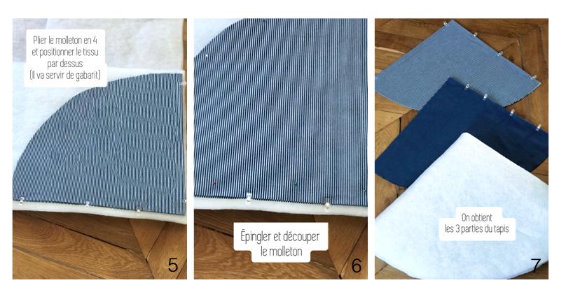 Découper le molleton pour le tapis