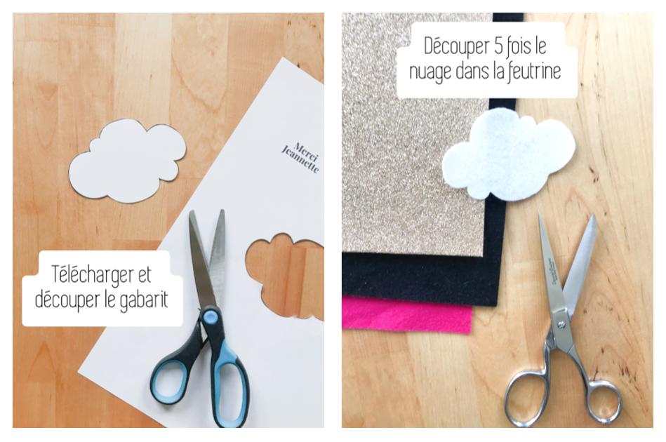 Etape 3 : Créer vos nuages en feutrine