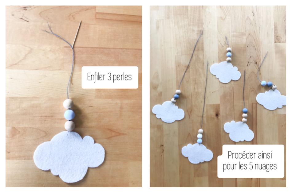 Etape 4 b : Enfilez les perles
