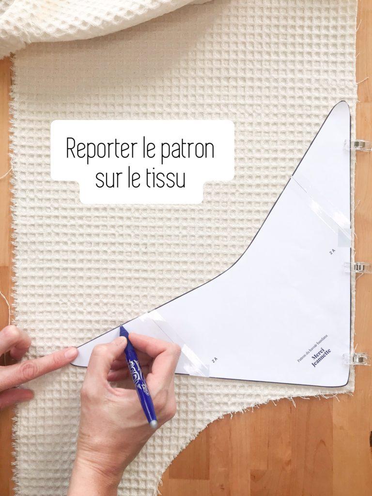 Reporter le patron sur le tissu