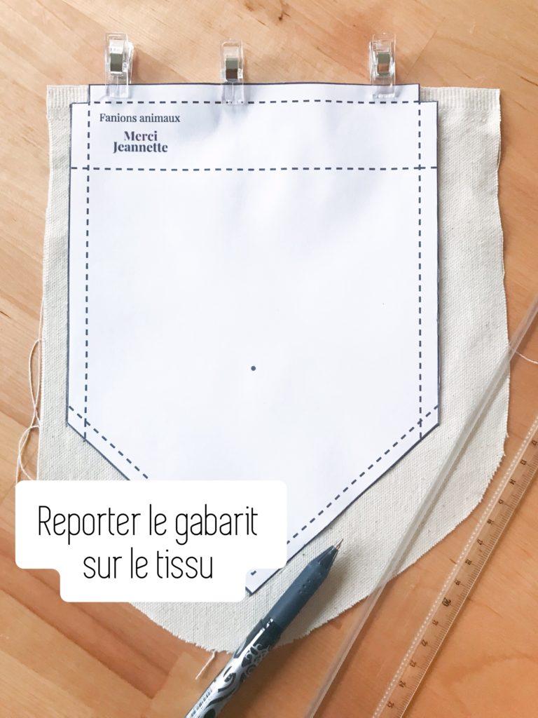 Reporter le gabarit sur le tissu