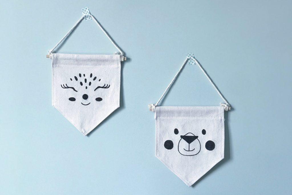 DIY des fanions décoratif pour la chambre de bébé