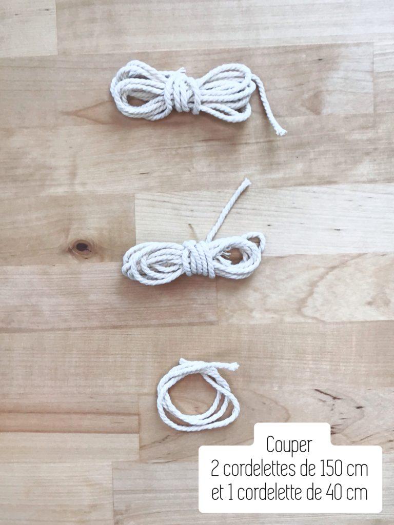 Couper les cordelettes en macramé