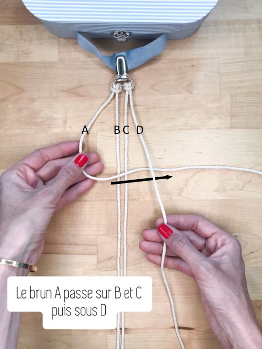 Commencer les noeuds en macramé