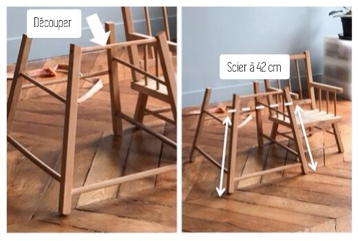 Ajuster la taille des pieds de la table