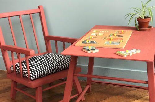 Comment fabriquer une chaise et une table pour bébé